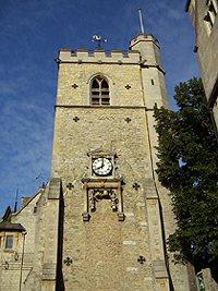 věž Carfax = bývalý kostel
