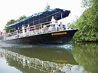 řeke Cherwell Oxford veselá loď...
