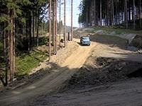 Silnice z Nového Hrozenkova výstavba