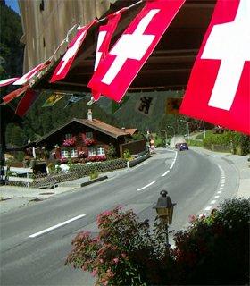 Grindelwald Grund švýcarsko vlajky