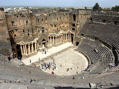 Sýrie Bosra amfiteatr