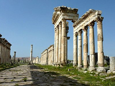 Syrie Apamea kolonada