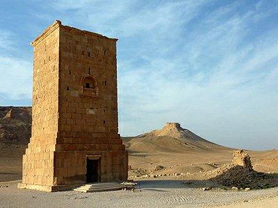 Sýrie Palmýra hrobky