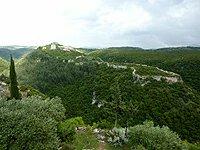 Sýrie Saladínuv hrad panorama