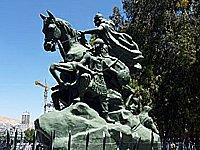 Sýrie Damašek Saladínova socha