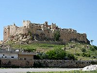 Sýrie hrad Musjaf