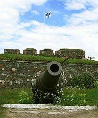 Suomenlinna námořní pevnost dělo