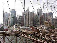 Brooklynský most pohled na Manhattan