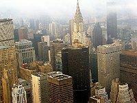 Pohled z Empire state building – mrakodrap chrysler