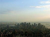 Západ slunce nad Manhattnem New York