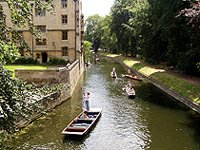 punting Cam bridge