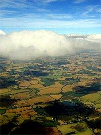 England plane view