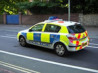 Police car England