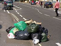 litter rubbish on ground