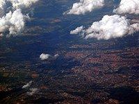 Prague from sky