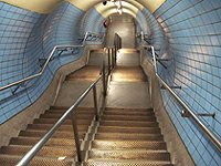 Waterloo Northern line stairs